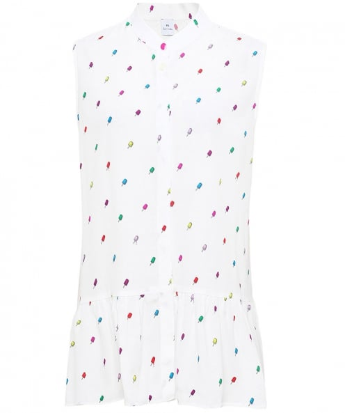 PS by Paul Smith Ice Lolly Peplum Shirt