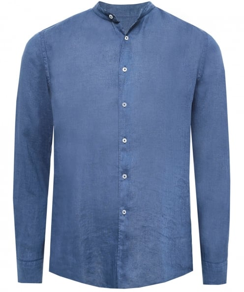 Altea Linen Garment Dyed Brent Shirt