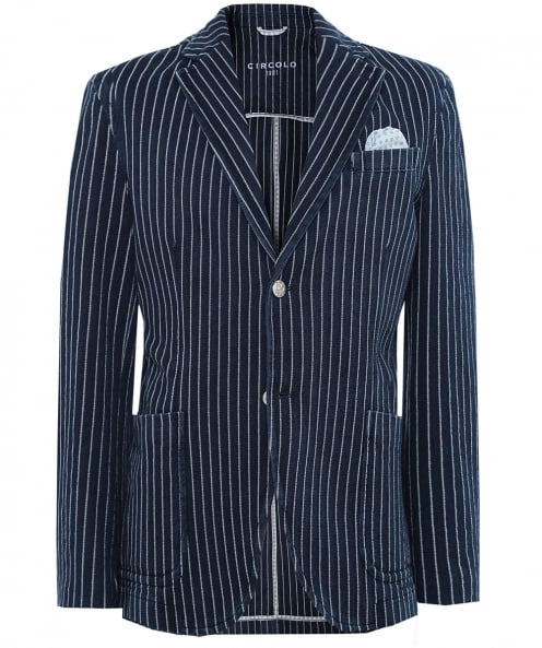 Circolo 1901 Herringbone Striped Jacket