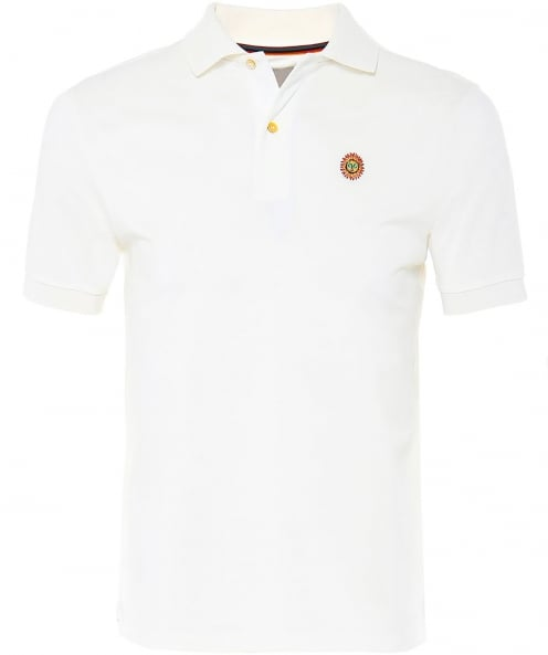 Paul Smith Pique Cotton Embroidered Sun Polo Shirt