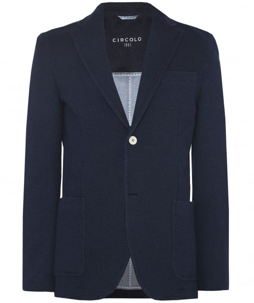 Circolo 1901 Stretch Cotton Micro Dot Jacket