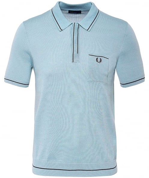 Fred Perry Knitted Fine Tipped Polo Shirt