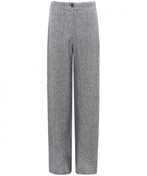 Crea Concept Linen Blend Marled Trousers