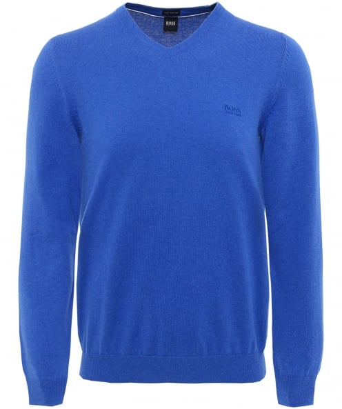 BOSS V-Neck Cotton Pacello-L Jumper
