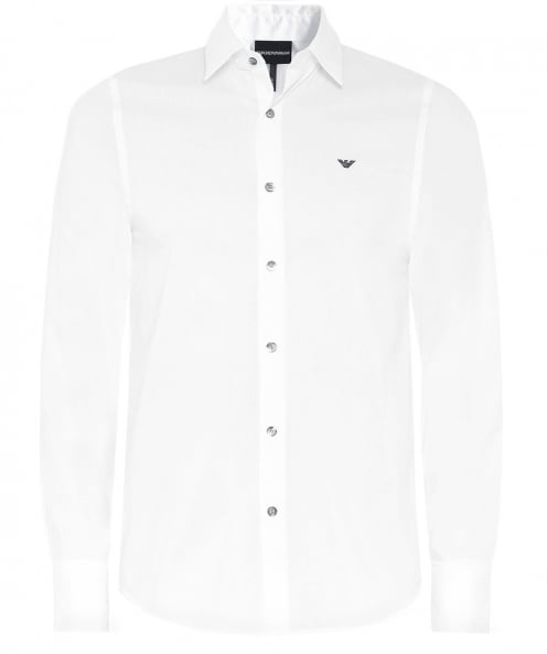 Armani Slim Fit Contrast Trim Shirt