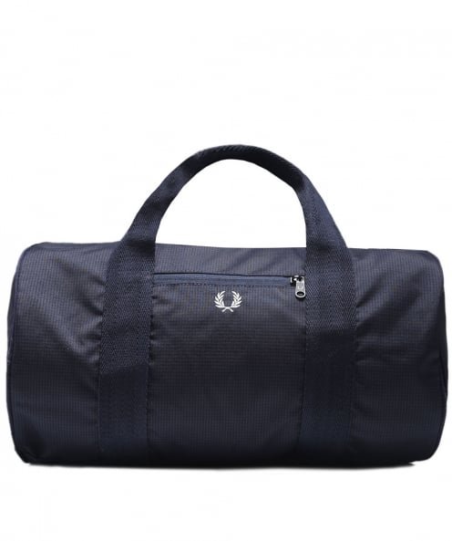 Fred Perry Houndstooth Twill Barrel Bag
