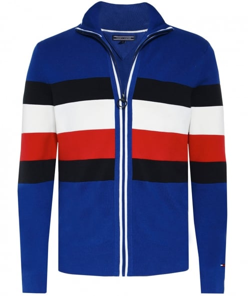 Tommy Hilfiger Knitted Zip-Through Striped Cardigan