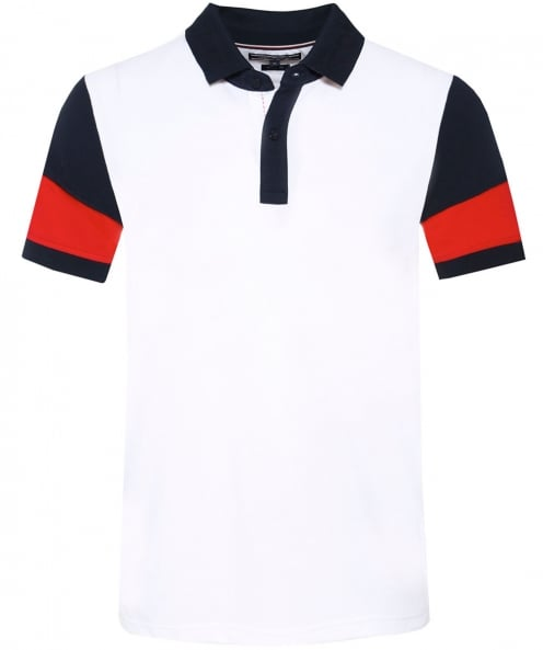Tommy Hilfiger Regular Fit Pique Colour Block Polo Shirt