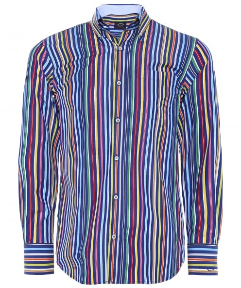 Paul and Shark Poplin Cotton Striped Shirt