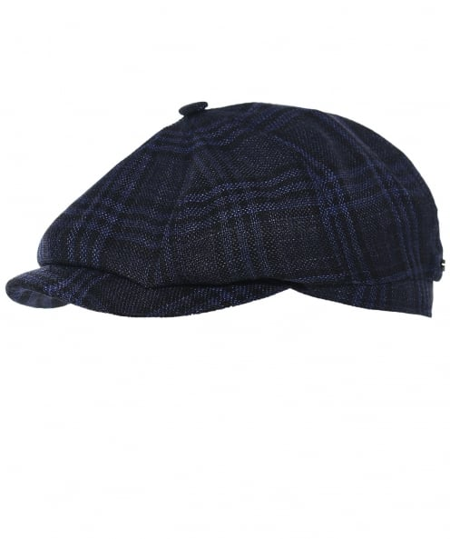 Stetson Silk Blend Check Hatteras Newsboy Cap