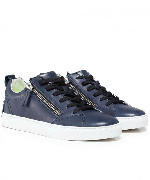 Crime London Leather Java Lo Trainers