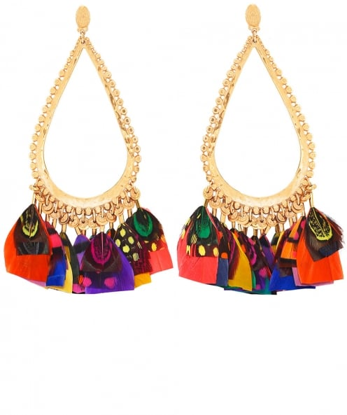 Gas Bijoux Bibi Feather Teardrop Earrings