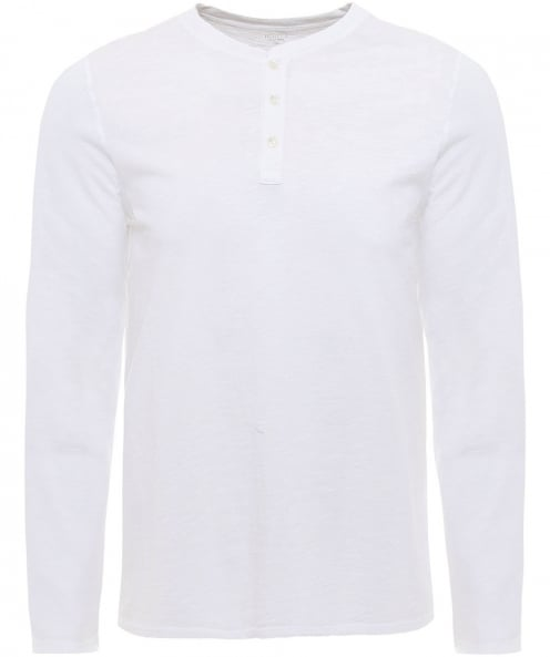 Hartford Knitted Cotton Henley T-Shirt