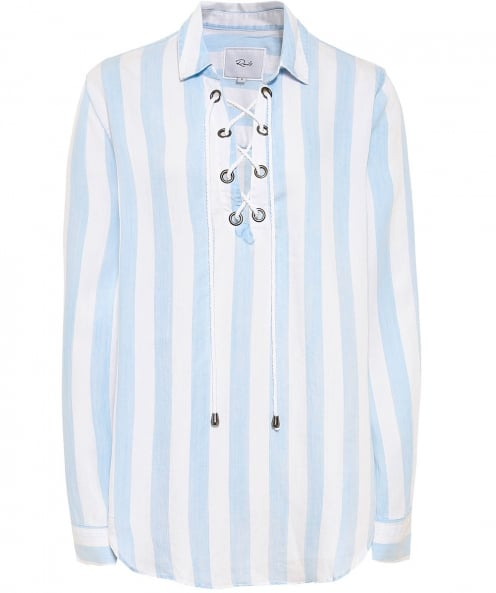 Rails Uli Corset Tie Stripe Shirt