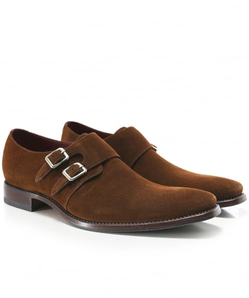 Loake Suede Double Monk Mercer Shoes