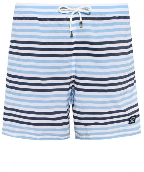 Paul and Shark Striped Swim Shorts