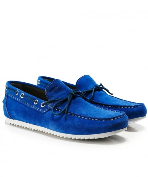 Geox Suede Shark Boat Shoes