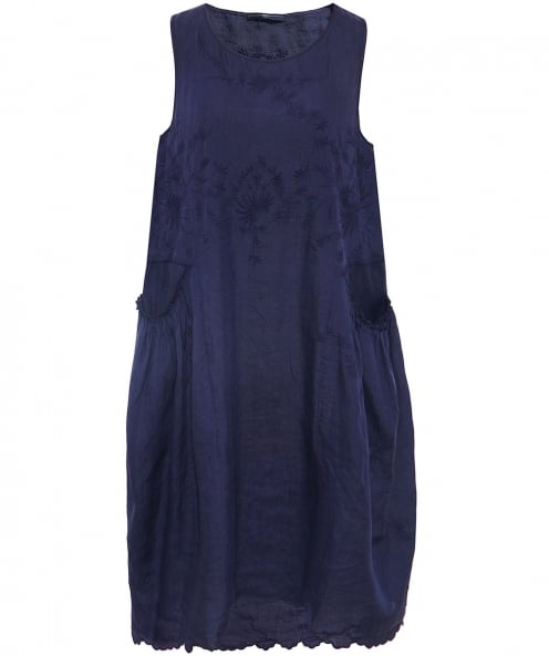 High Kindly Embroidered Sleeveless Dress