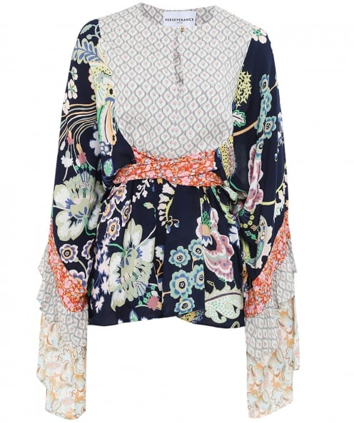 Perseverance Liberty Floral Belted Top