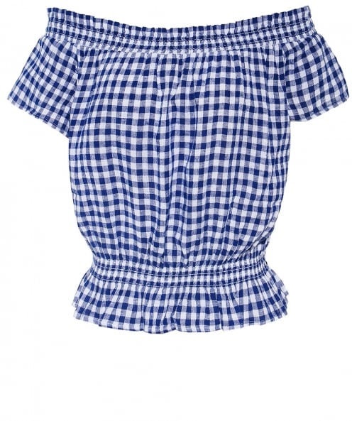 Rails Lita Gingham Bardot Top