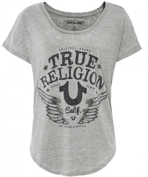True Religion Marl Jewelled Logo T-Shirt