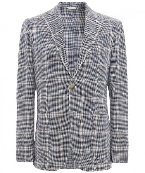 LBM 1911 Silk Blend Houndstooth Check Jacket
