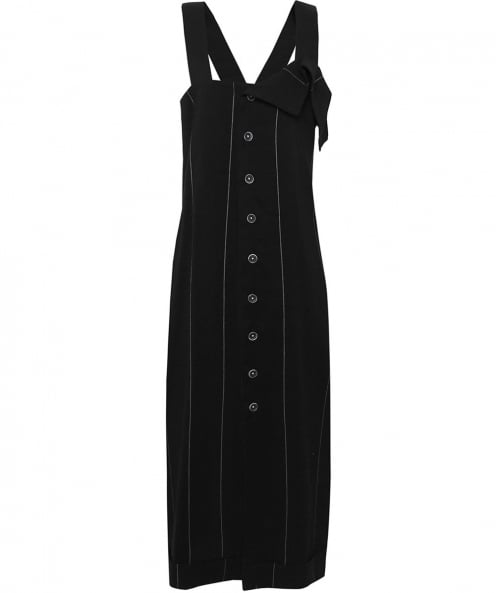 Crea Concept Pinstripe Strap Dress