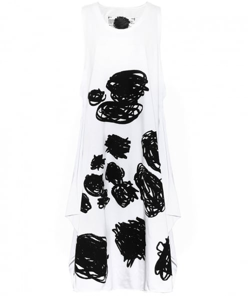 Rundholz Scribble Print Sleeveless Dress