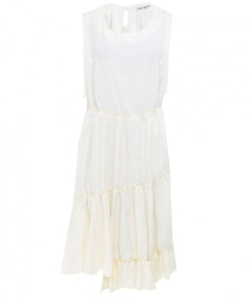 Lurdes Bergada Linen Sleeveless Dress