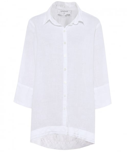 Grizas Linen Oversized Waterfall Shirt
