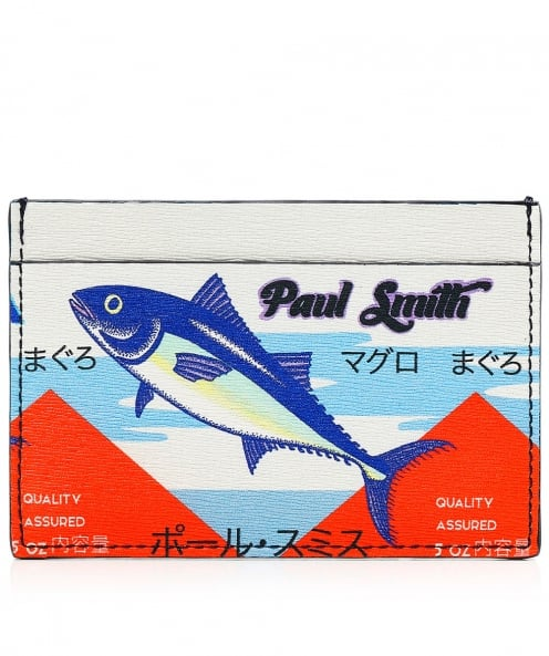 Paul Smith Leather Tuna Print Card Holder