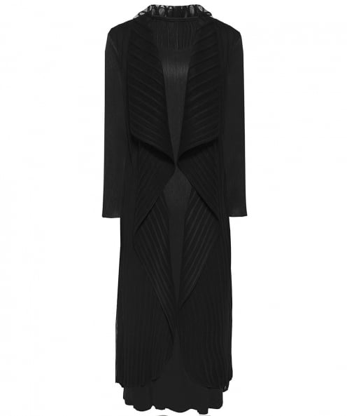 Thanny Layered Crepe Maxi Dress