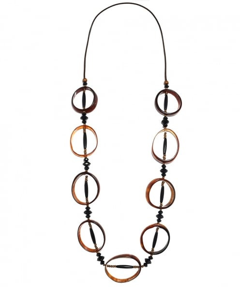 Zen Jewellery Circular Horn Effect Bead Necklace