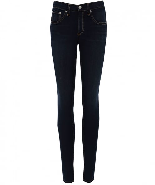 Rag and Bone High Rise Ankle Skinny Jeans