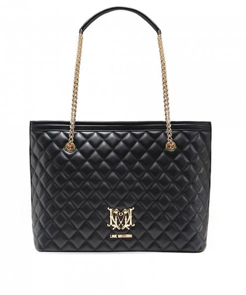 Moschino Love Moschino Quilted Leather Shopper Bag