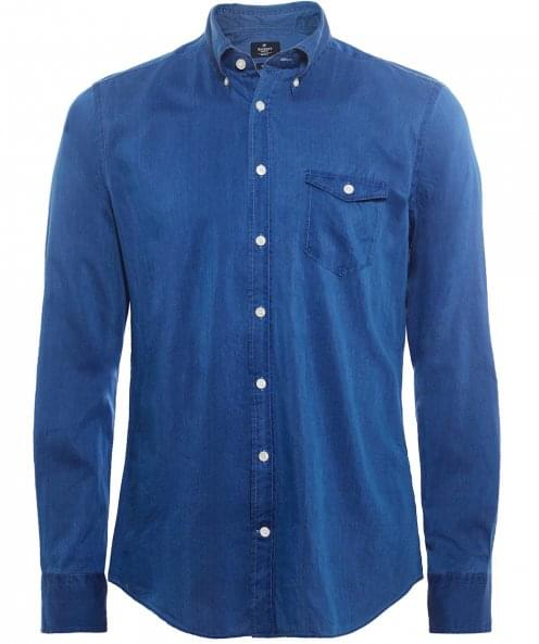 Hackett Slim Fit Silk Blend Shirt