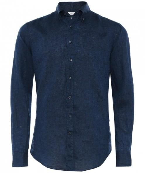 Stenstroms Fitted Body Washed Linen Shirt