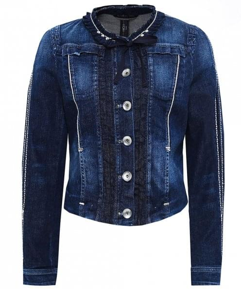 High Aspire Frill Neck Denim Jacket
