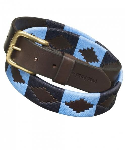 Pampeano Leather Azules Polo Belt
