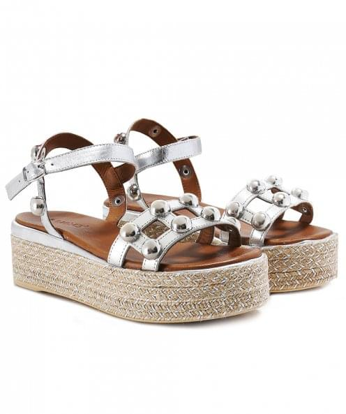 Inuovo Studded Bar Espadrille Sandals
