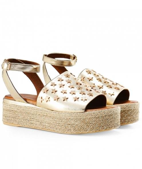 Inuovo Studded Slingback Espadrilles