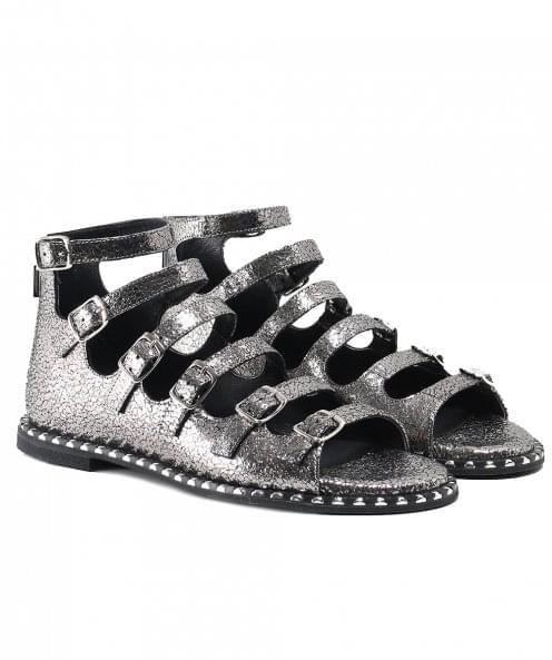 Makris Leather Gladiator Sandals