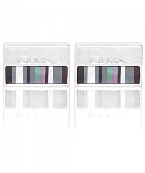 PS by Paul Smith Mother-of-Pearl Stripe Cufflinks