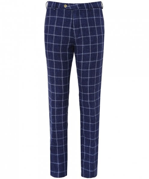 MMX Linen Lynx B Check Trousers