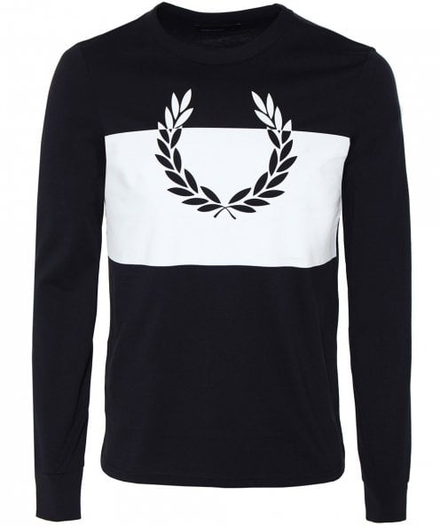 Fred Perry Long Sleeve Laurel Wreath T-Shirt
