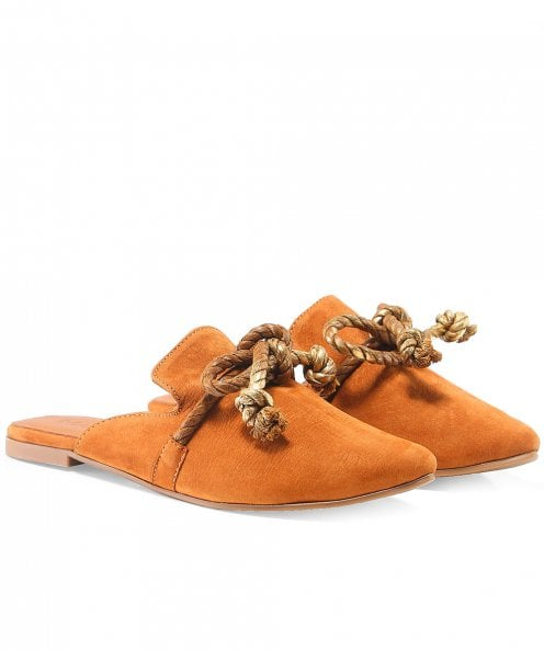 Inuovo Suede Rope Detail Closed Toe Sandals