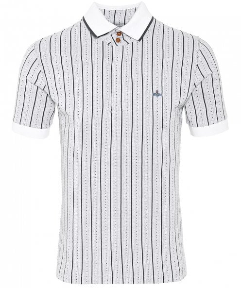 Vivienne Westwood Man Textured Striped Polo Shirt
