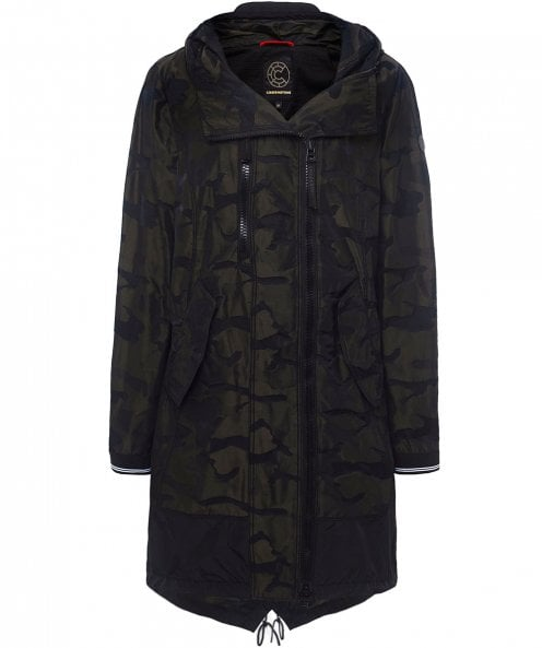 Creenstone 3/4 Hooded Camo Jacket
