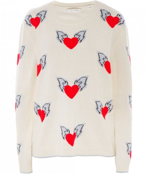 Chinti and Parker Cashmere Juliet Heart Jumper