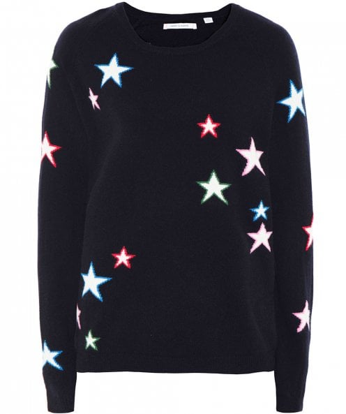 Chinti and Parker Cashmere Multi Star Sweater